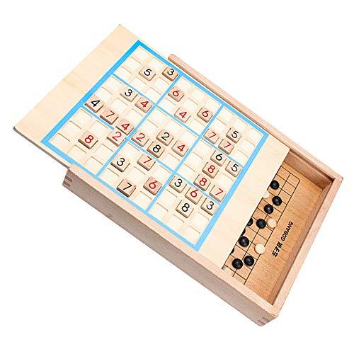 Sudoku bordspel, houten puzzel spel met lade, vijf in één logica denken kinderen Jiugongge tafelspelen speelgoed, de beste manier om je hersenen te trainen