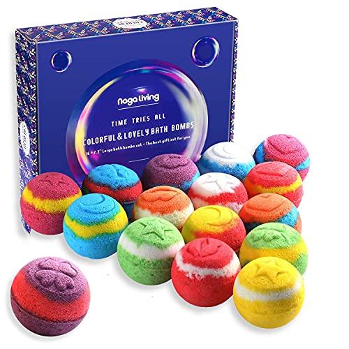 Nagaliving Bath Bombs Gift Set, 100% Handmade Pure Essential Oil Bath...