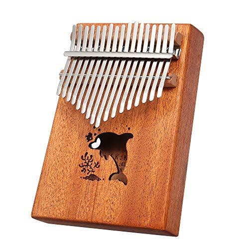 Fesjoy daumenklavier kinder kalimba 17 marimba instrument musikinstrumente set musikalisches geschenk 17 Tasten Tragbare Daumen Klavier Tascheninstrument Kalimba Finger Klavier Mbira Kleine Musikspie