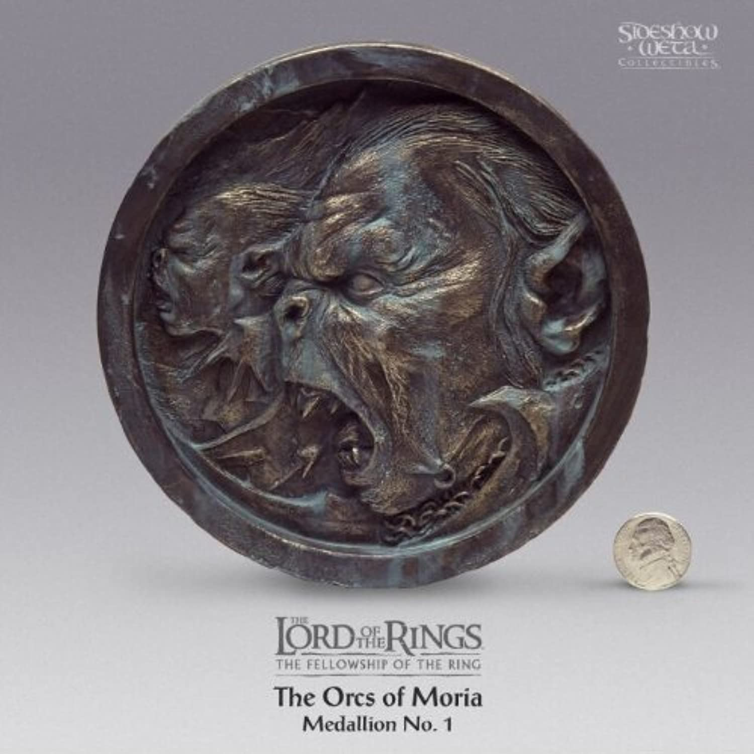 producto de calidad 'THE ORCS OF OF OF MORIA' The Lord of the Rings   The Fellowship of the Rings 2001 Limited Edition Polystone Medallion  1 of only 10,000  by Sideshow Collectibles  Seleccione de las marcas más nuevas como