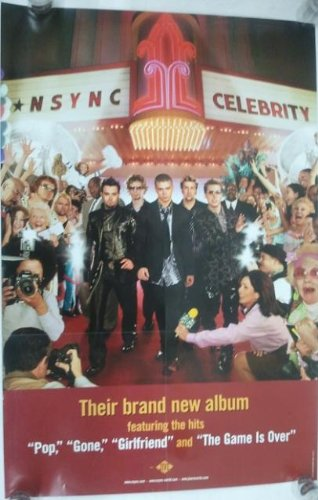 NSYNC - Celebrity (Justin Timberlake) poster. The poster is not sold by NSYNC