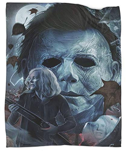 Halloween Michael Myers Painting Lightweight All-Season Blanket Super Soft Cozy Microfiber Couch Blanket 60'x80'
