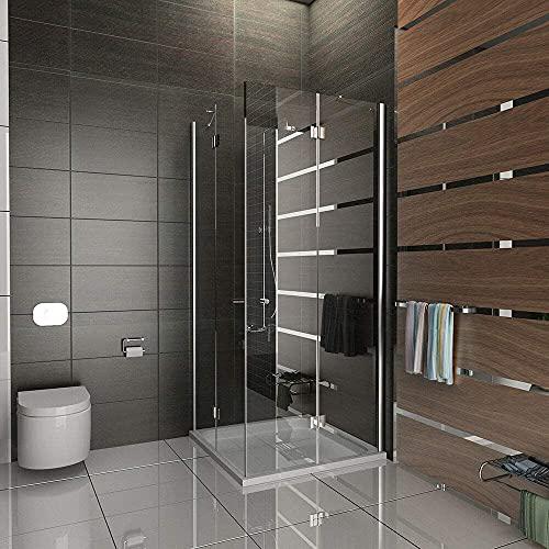 Entrada por la esquina cabina de ducha/gimnasio cabina de ducha/ducha 80 x 200 cm aprox/cuadro gimnasio ducha/marco para cabina de ducha/alpen Berger/modelo Quadri Clear/cabina de ducha de cristal de seguridad
