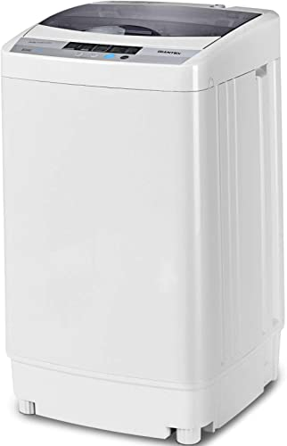 Giantex Full-Automatic Washing Machine Portable Compact 1.34 Cu.ft Laundry Washer Spin with Drain Pump, 10 programs 8...
