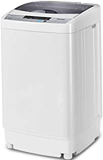 Giantex Full-Automatic Washing Machine Portable Compact 1.34 Cu.ft Laundry Washer Spin..