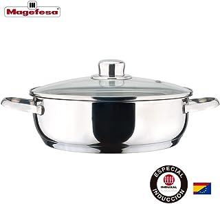 MAGEFESA Dux Acero Inoxidable 18/10, Compatible Todo Tipo de Cocina, inducción.