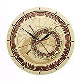 Reloj República Checa Medieval astronomía Pared del Arte Decorativo de la Pared Astrología Regalo del Reloj de Praga Ilustraciones para la Casa Oficina Hotel