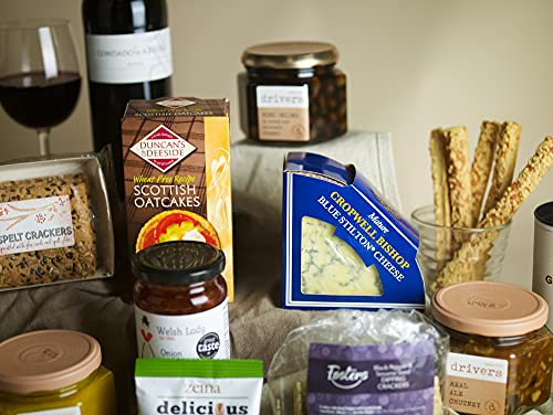 Hay Hampers -Ultimate British Cheese & Wine Board for Christmas - FREE UK delivery