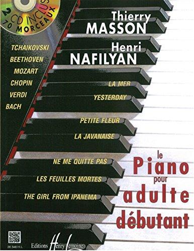 Thierry Masson : Piano Pour Adulte Débutant Avec 2 Cd - Partitions, CD