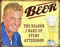 ビール-毎朝目覚める理由ティンサイン