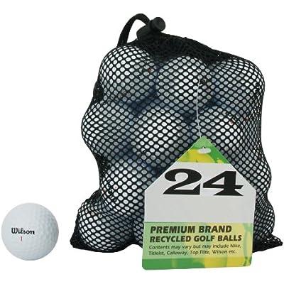 Second Chance Golf Lakebälle Wilson 24 Premium Grade A - Bolas de Golf reciclada, Color (Weiß), Talla única