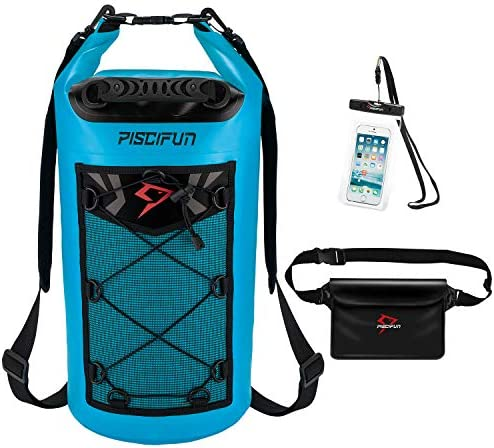 Piscifun Waterproof Dry Bag with Waterproof Waist Pouch and Waterproof Phone Case Floating Dry product image