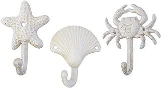 TOPBATHY 3pcs Nautical Hooks Crab sea Shell Shape Wall Hooks Coat Towel Hooks Robe Key Hat Clothes Hooks Wall Hangers Nautical Beach Coastal Wall Decorations Ornaments