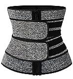 Vaslanda Women Waist Trainer Colombian Corset for Working Out Everyday Wear Female Sauna Sweat Sport Waist Trimmer Plus Size Grey 3XL