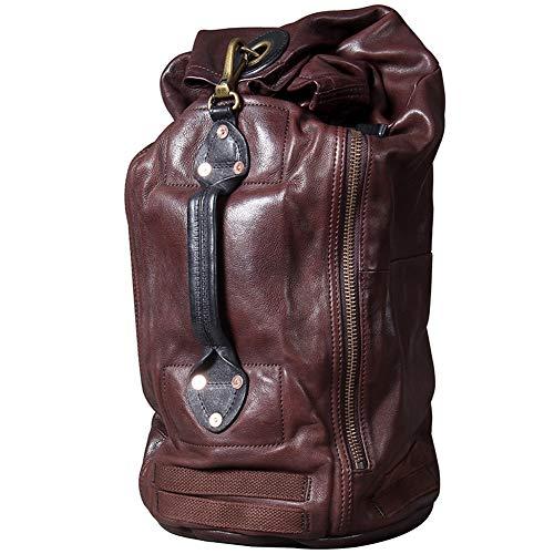 Leather Wallet Leather Travel Backpack for Men 15' Laptop Business Daypack Vintage Shoulder Bag School Backpack Suitcases Unisex Backpack