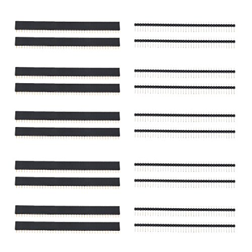 perfk 20 X 40 Polig Pin Buchsenleiste Stecker Stiftleiste Header 2,54mm Einreihig