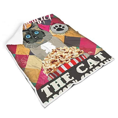 Vrnceit The Cat Popcorn Company mooie kleurloze dekbedden voor banken Voel je goed voor kinderen of volwassenen, elegante stijl