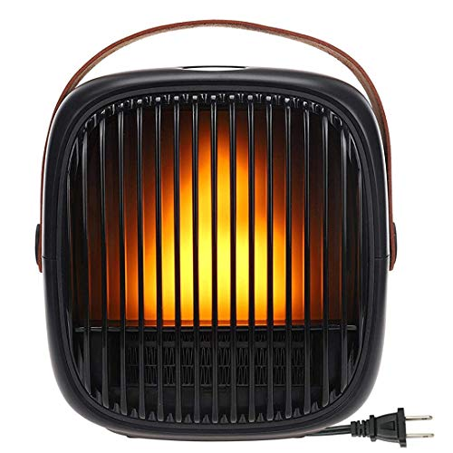 Space Heater, Ovicr Ceramic Space Heater Electric Portable Heater for indoor use bedroom office with Adjustable Thermostat and Overheat Protection 8H Timer
