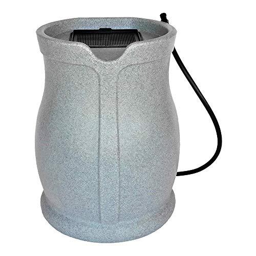 FCMP Outdoor RB-CAT-LTGRNT Water Irrigation 45 Gallons Catalina Rain Barrel, Light Granite