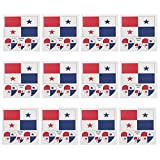 PRETYZOOM 12pcs Panama Flag Temporary Tattoos Heart Panamanian National Flag Stickers European Cup Face Decal Country Flag for World Country Sports Event Party Favor