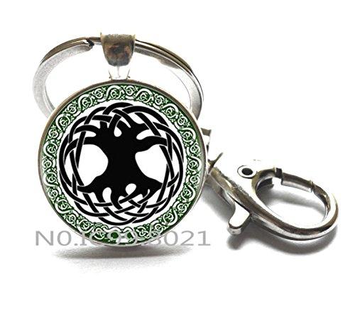 Celtic Tree of Life Keychain Tree Key Ring Celtic Triquetra Charm Tree Medallion Small Celtic Key Ring Trinity Knot Jewelry.Celtic Tree of life Keychain, Celtic knot KeychainRing.XT160 (A)