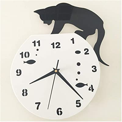SMC Wall Clock Personality Creative Plastic Mute Decorative Clock - Living Room Bedroom Restaurant (Color