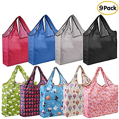 Large Grocery Bags Reusable Foldable Shopping Bags Washable
