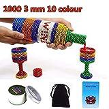 Bolas Måĝnetičas de Colores Bolitas Måġnetičas 1000 MåĝnetičBalls, Bolas de Rompecabezas Mágico Bola Descompresión Desarrollo Inteligente Juguetes Regalo Ideales para niños3 mm 1000pcs 10colour