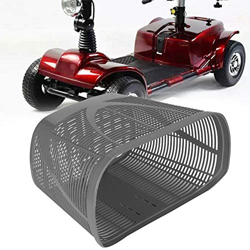 Mobility Scooter Plastic Rear Replacement Basket, Bicycle Front Basket with Mounting Screw Back Basket Privacy Shopping Bag Modification Accessory