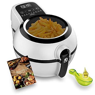 Tefal Actifry Genius Snaking FZ761015 Friteuse sans huile 1,2 kg avec 9 programmes automatiques et accessoires pour snacks, panneau tactile intuitif et livre de recettes inclus Passe au lave-vaisselle