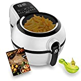 Tefal Actifry Genius Snaking FZ761015 - Freidora sin aceite, de aire 1.2 kg, con 9 programas automáticos y accesorio para snacks, panel táctil intuitivo e incluye recetario, apto lavavajillas