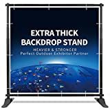 T-SIGN 5x7-8x10 ft Heavy Duty Backdrop Banner Stand, Thicker Professional Large Telescopic Display Step and Repeat Stand for Photography, 1 Carry Bag