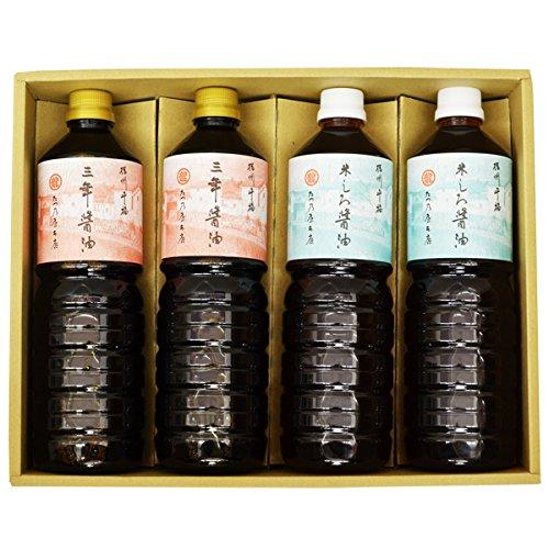 たつ乃屋本店 三年醤油・米しろ醤油 ペットボトル(大)(1000ml) 各2本×2