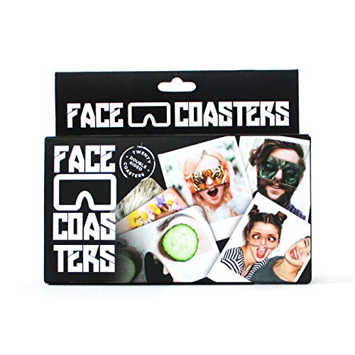 "Gift Republic Bierdeckel ""Face Coasters&ldquo, Karton, Mehrfarbig, 15,5x3,5x13cm"