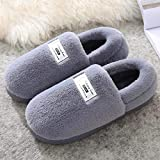 B/H Andar por casa,Pantuflas de algodón del Todo fósforo empaquetadas, Zapatos de hogar cálidos y Antideslizantes-Grey_37-38,Pantuflas Cómodas