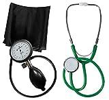 Blutdruckmessgerät Oberarm Profi Tiga Pro 1 Neuware K 1 + Stethoskop Flachkopf Grün Tiga-Med
