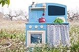 Kinderküche aus Holz, Spielküche für Kinder Blau