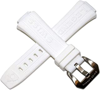 24MM White Silicone Watch Strap Stainless Silver Buckle fits 40mm Trimix Diver Watch
