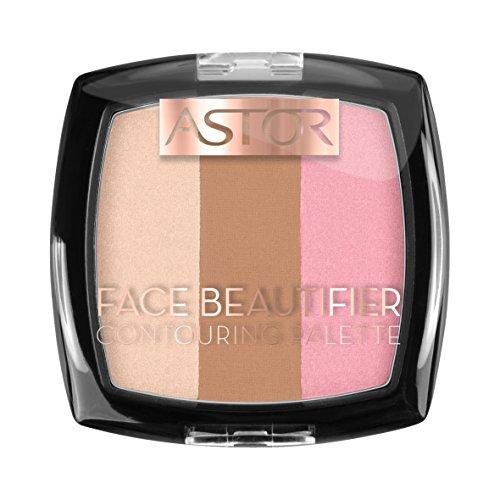 Astor Face Beautifier Contouring Palette, Make-Up, Farbe 001 Light, 1er Pack (1 x 9 g)