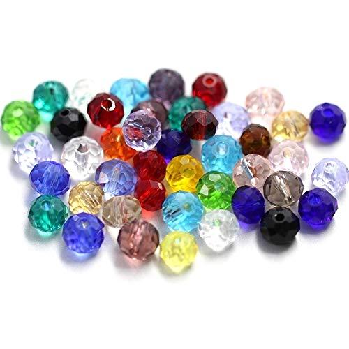 YUXIN Zhaochen Cuentas De 4-8 Mm De Brown Oscuro Cristal Facetado Redondo De Los Granos De Cristal For La Pulsera del Collar De La Joyería Que Hace Resultados