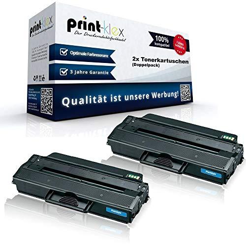 2x Alternative Tonerkartuschen für Samsung MLT-D103S/ELS MLT-D103L/ELS MLTD103S MLTD103L MLT D103 MLT D103ELS MLT D103 ELS Black XXL - Toner Line Serie