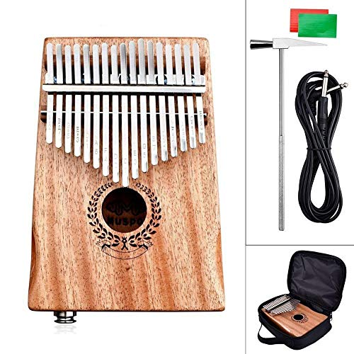 Kalimba, Daumenklavier 17 Keys Kalimba Mbira Mahagoni Daumenklavier aus Holz Finger Percussion African Calimba Musikinstrumente mit Tuner Hammer (Color : Mahogany Color)