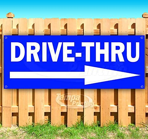 Drive-Thru Max 62% OFF 13 oz Banner Albuquerque Mall Single-S Non-Fabric Vinyl Heavy-Duty