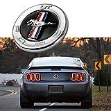 Xotic Tech 1x Running caballo emblema cromado Metal puerta Fender Badge Sticker para Ford Mustang
