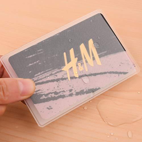カードケース 12枚 透明 磁気防止 マットな質感 薄型 防水 防磁 ビニール IDカードケース 防水 防磁対策 クレジットカードケース シンプル デザイン 各種カード フィル