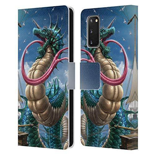 Head Case Designs Offizielle Tom Wood Leviathan Drachen 2 Leder Brieftaschen Huelle kompatibel mit Samsung Galaxy S20 / S20 5G