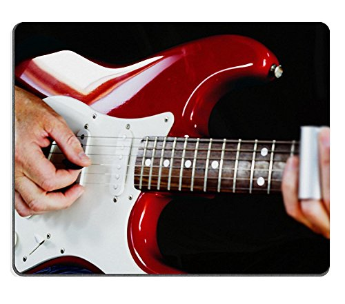 Goobull Luxlady Natural Rubber Mousepads Image ID 31511081Guitarist Playing Vintage Fender Stratocaster Chitarra
