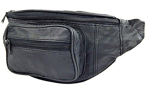 Bag Street Bauchtasche Gürteltasche Hüfttasche Echt Leder Schwarz Neu