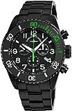 Zeno-Watch Reloj Mujer - Diver Ceramic Chrono Black&Green - 6492-5030Q-bk-a1-8M