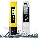 Medidor de pH y TDS Set 2 en 1, medidor de calidad digital del agua de BLANDSTRS, 0 ~ 9990 PPM, medición de temperatura y EC 0,01 PH, alta precisión con rango de medición de 0 a 14 PH